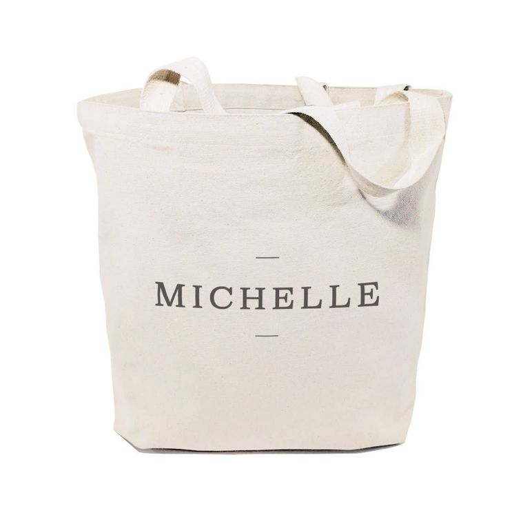 Personalized Modern Name Tote and Handbag