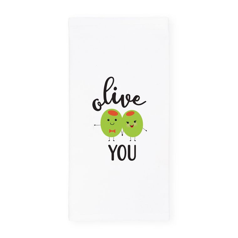Olive You Towel and Dish Cloth