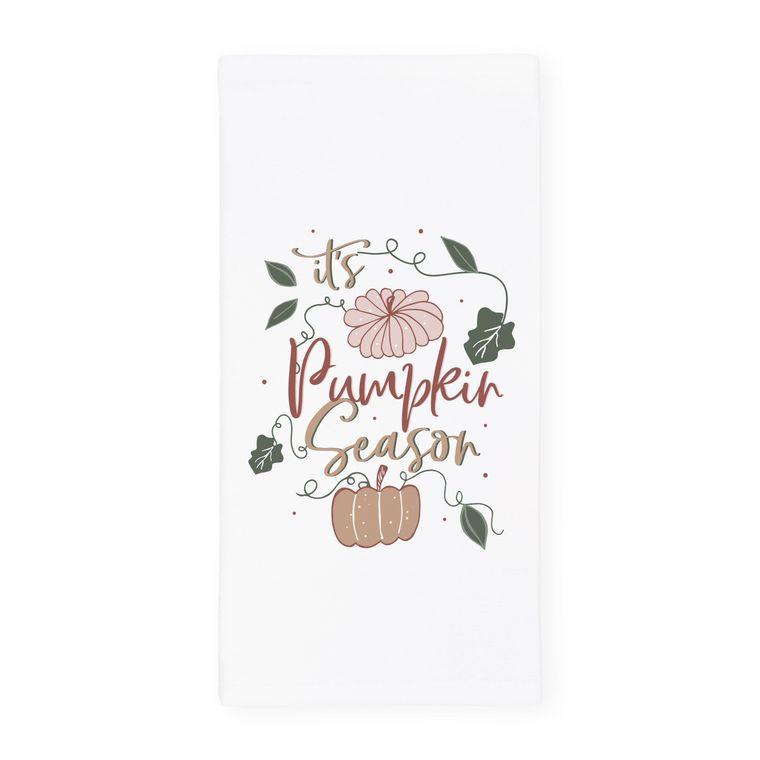 It's Pumpkin Season Autumn Fall Tea Towel and Dish Cloth