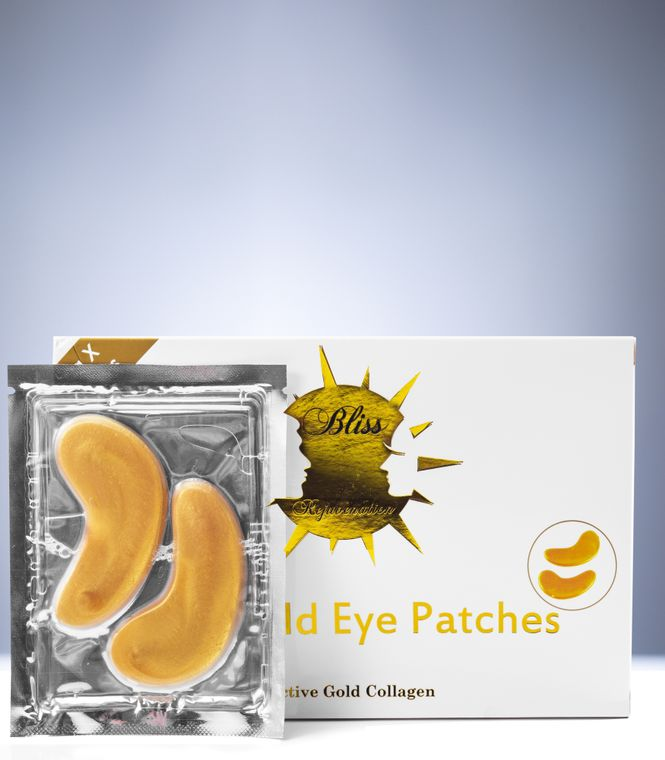 24K Nano Gold Eye Patches - Pack of 20 Pairs