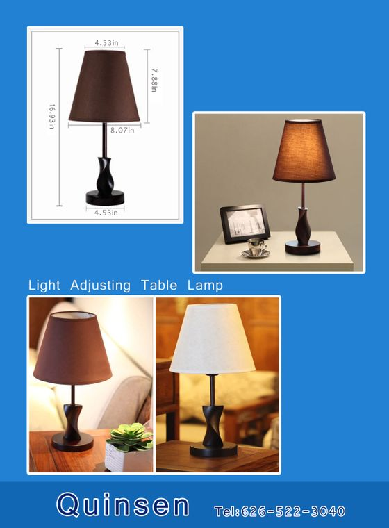 Light adjusting table lamp