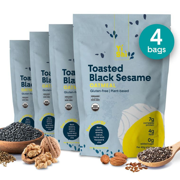 Toasted Black Sesame Oatmeal Family Pouch