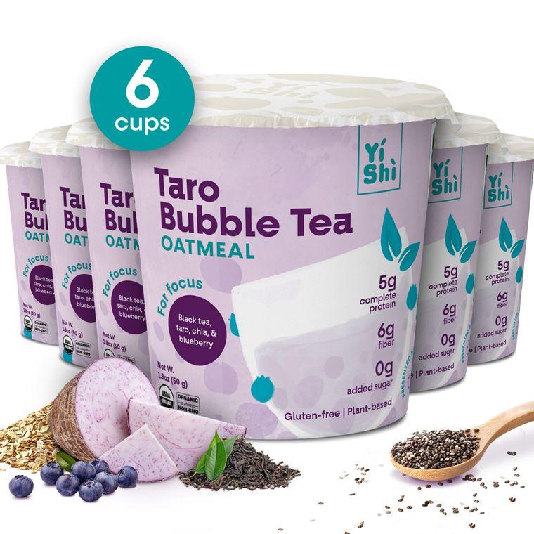 Taro Bubble Tea Oatmeal Cup