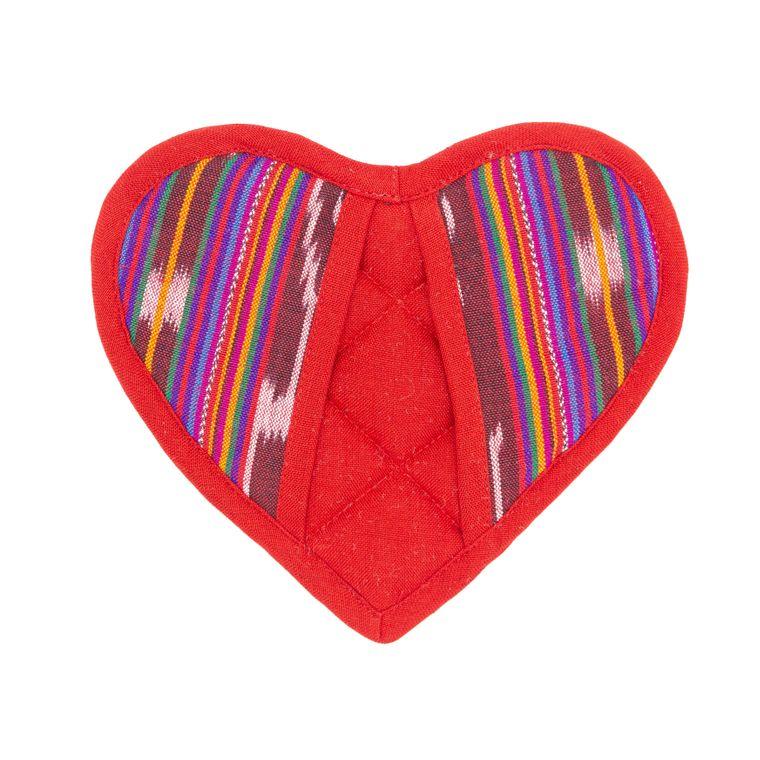 Festive Heart Potholder
