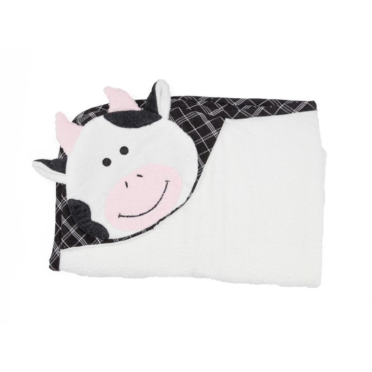 Cow Bath Time Snuggle Hooded Towel