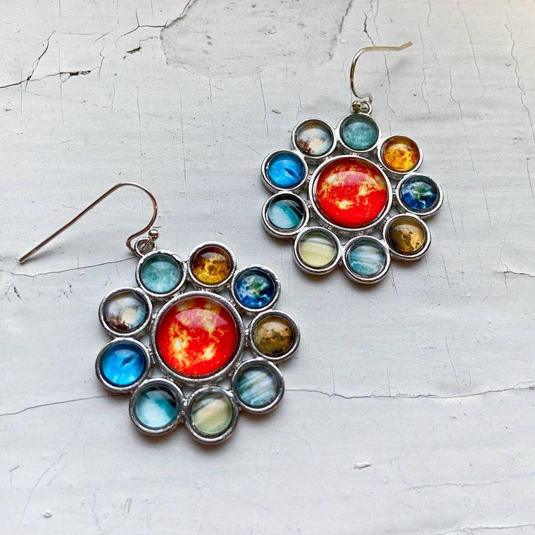 Solar System Halo Earrings