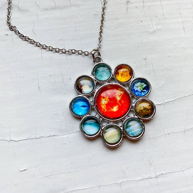 Solar System Halo Necklace