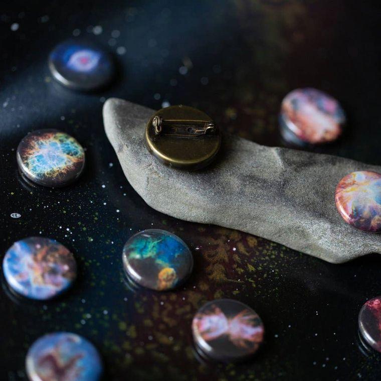Interchangeable Nebula Lapel Pin