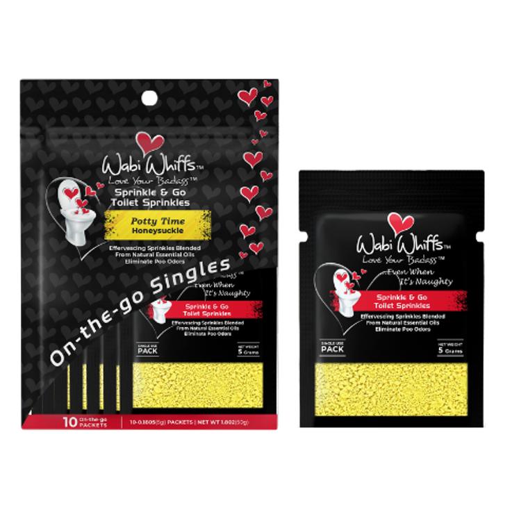 Potty Time On-the-Go Toilet Sprinkle Singles (Honeysuckle)