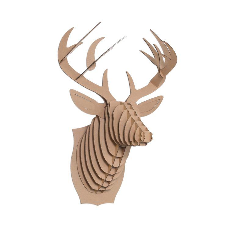 Bucky the Cardboard Deer Head