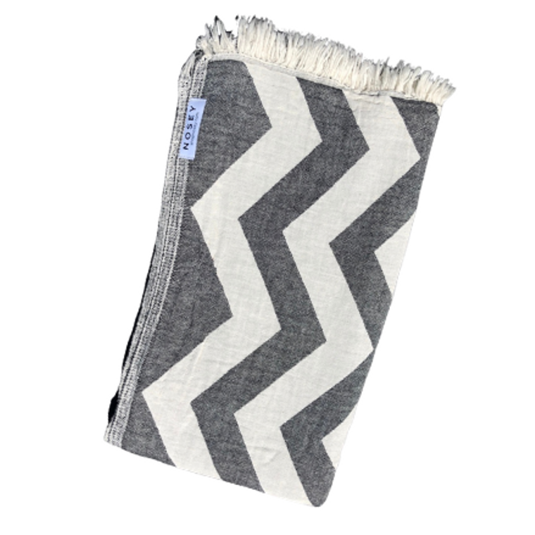 Ziggy Peshtemal Towel - Black