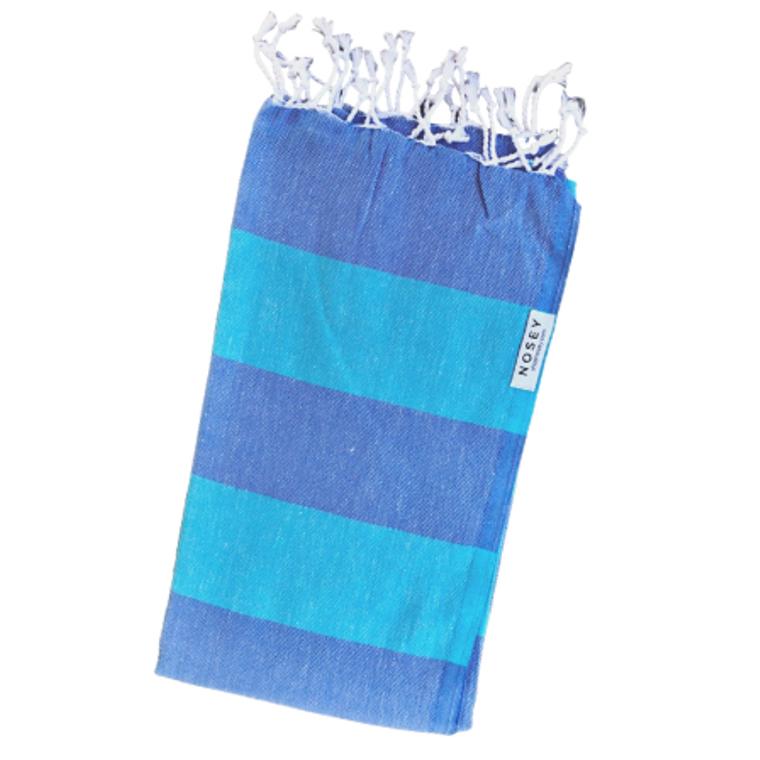The Happy Stripes Towel - Aqua  + Turquoise