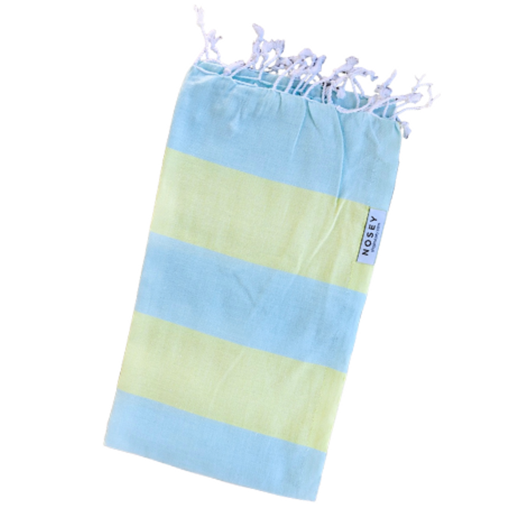 The Happy Stripes Towel - Mint + Lime