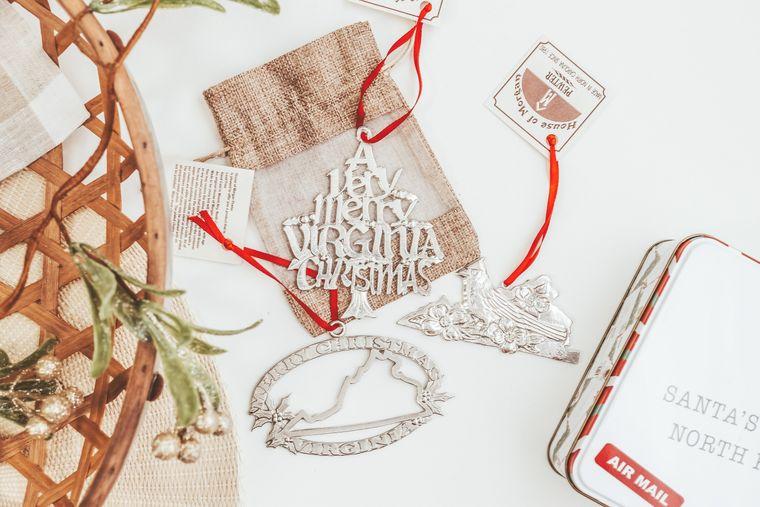 Virginia Christmas Ornament - VA Gifts and Souvenirs - Individual or Gift Set