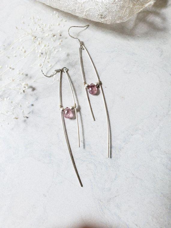 Lorelai Pink Spinel Asymetrical Earrings