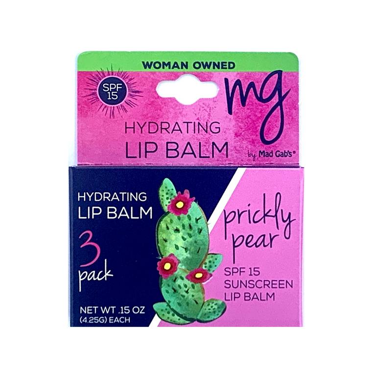 MG Signature Prickly Pear SPF 15 3 Pack Lip Balm