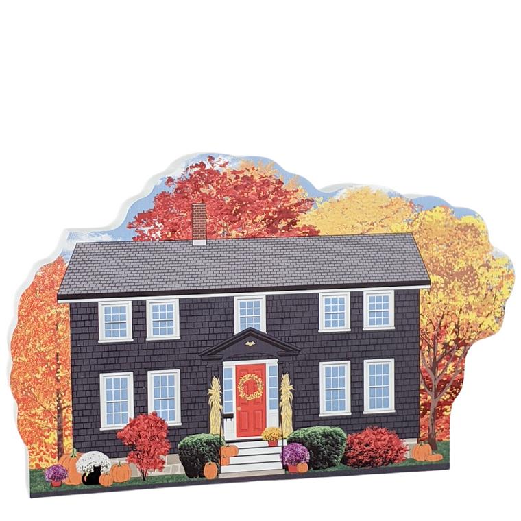 Witch's Coffin Cottage, Autumn in Salem, Massachusetts