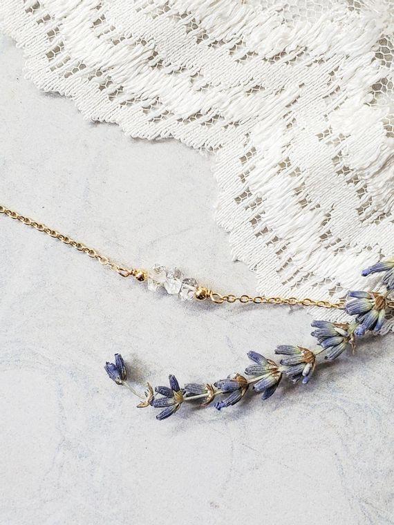 Herkimer Diamond Statement Necklace