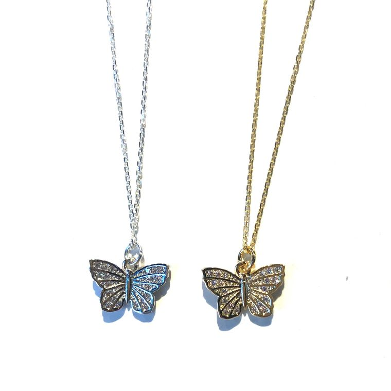 Butterfly Charm Necklace-Gold