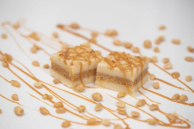 Caramel Salted Peanut Fudge