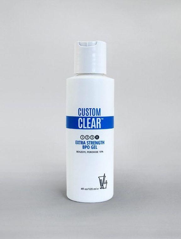 Custom Clear Extra Strengh BPO gel 10% benzoyl peroxide