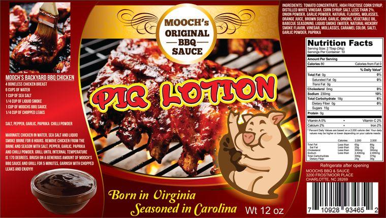 Moochs BBQ Pig Lotion BBQ sauce