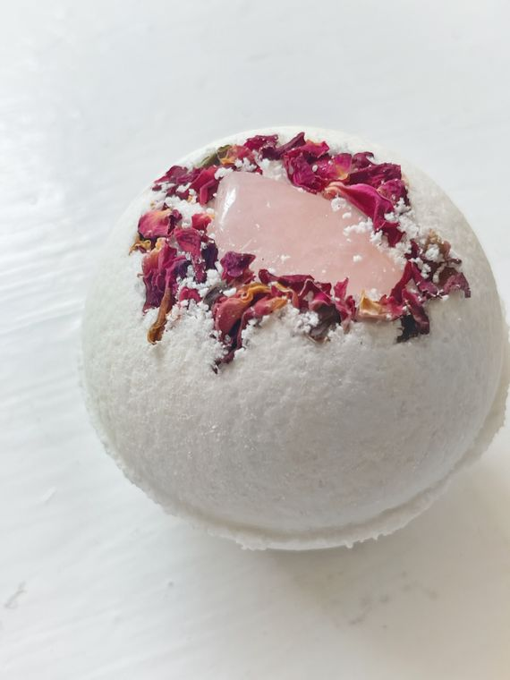 Rose Quartz & Rose Bath Bomb