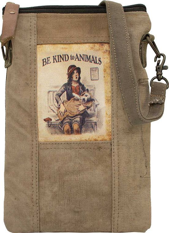 Be Kind To Animals Recycled Tent Crossbody