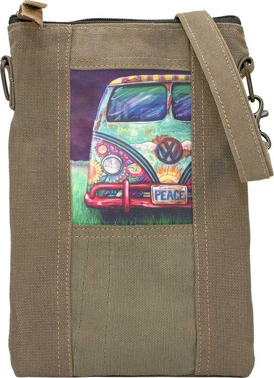 VW Peacemobile Recycled Tent Crossbody