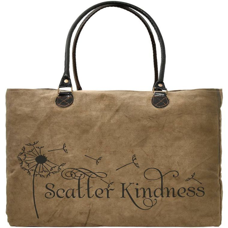 Scatter Kindness Recycled Military Tent Market Tote