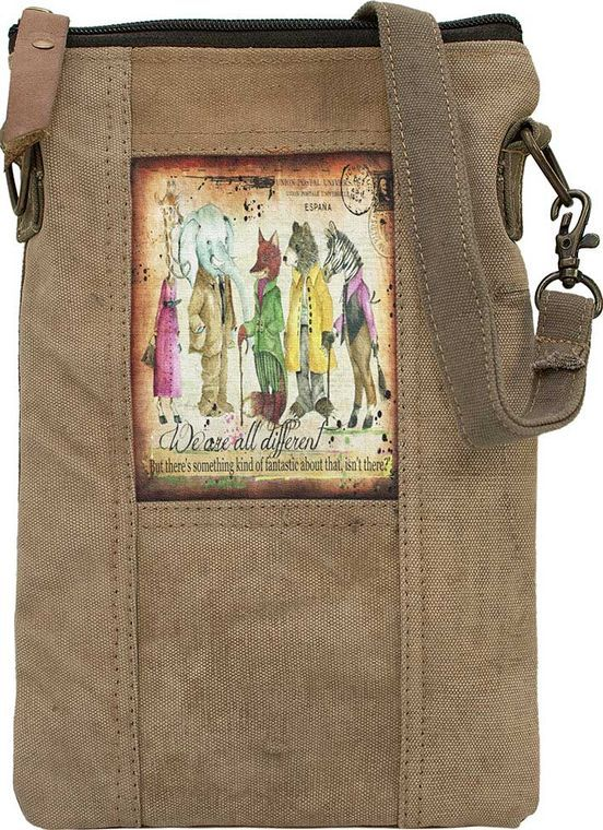 We Are All Different Recycled Tent Crossbody