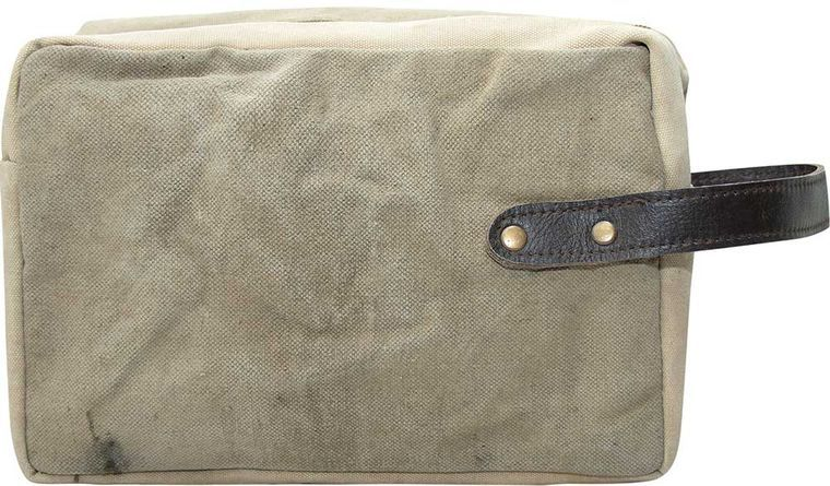 Recycled Military Tent Shaving Bag