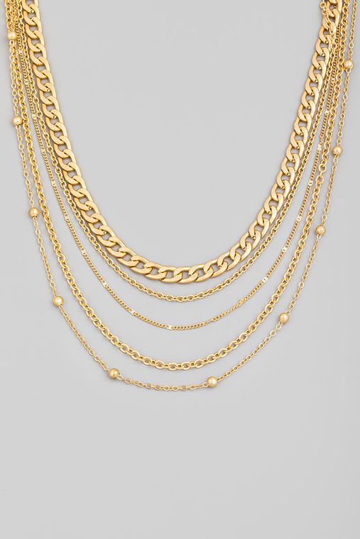 Dainty Multi Chain Layered Necklace