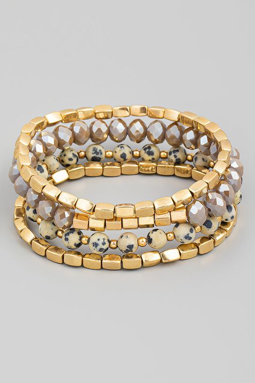 Four Piece Beaded Bracelet Set