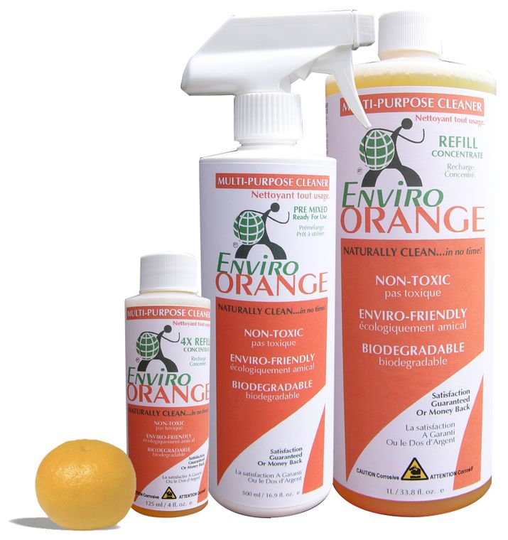 EnviroOrange cleaner/degreaser concentrate made from orange oil