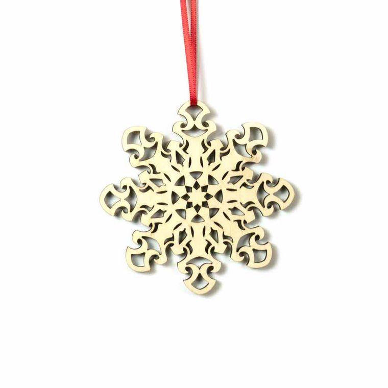 Wood Snowflake Holiday Ornaments