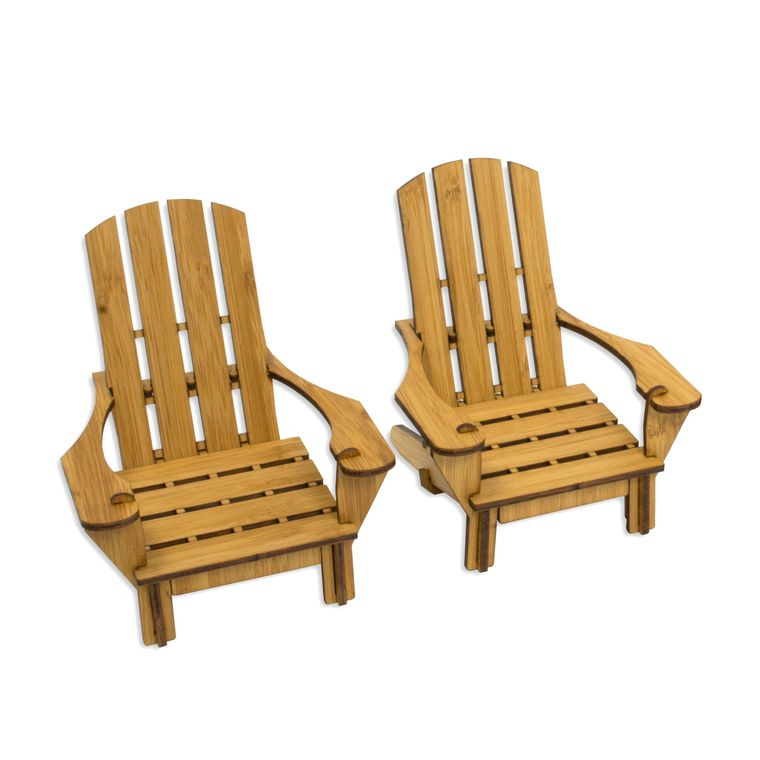 Wooden Adirondack Chair Coasters
