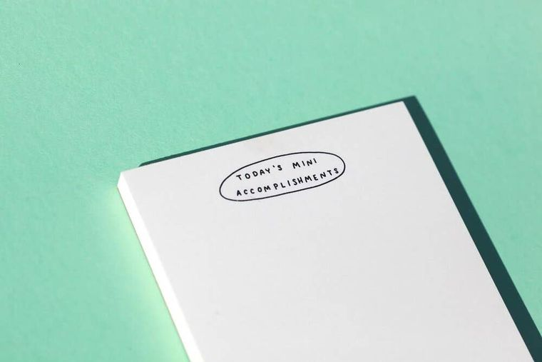 Today's Mini Accomplishments Riso Notepad