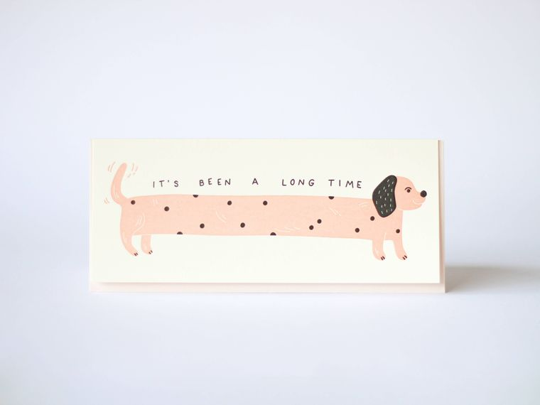 It's Been A Long Time Letterpress Greeting Card