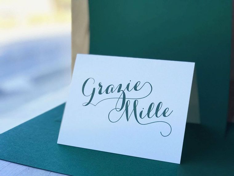 Grazie Mille Greeting Card