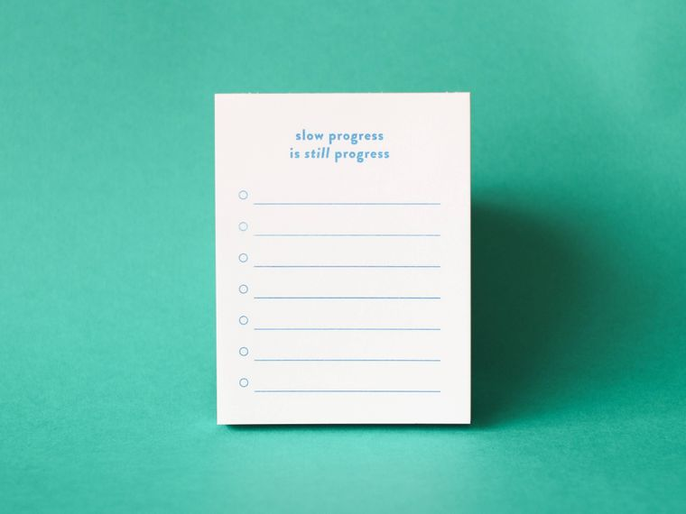 Slow Progress Is Still Progress Risograph Notepad