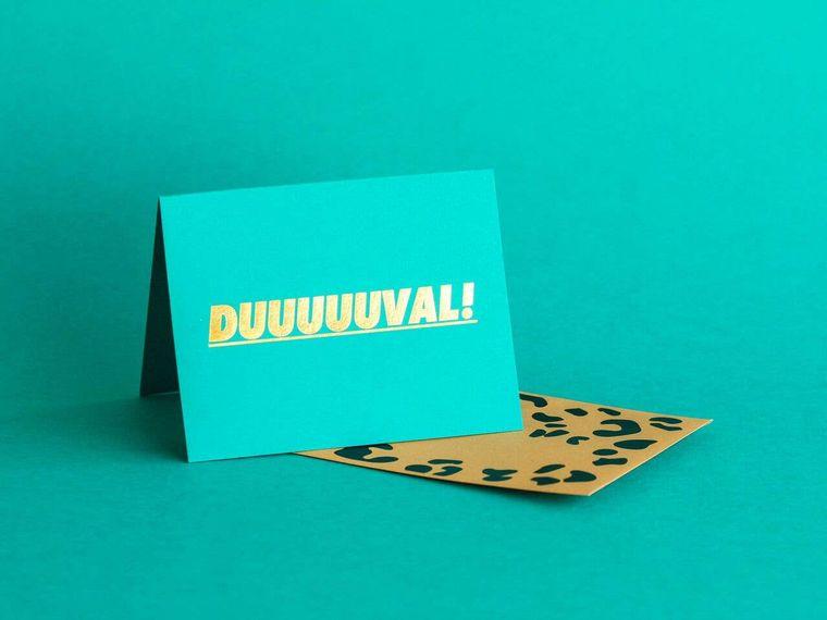 Duuuuuval Greeting Card