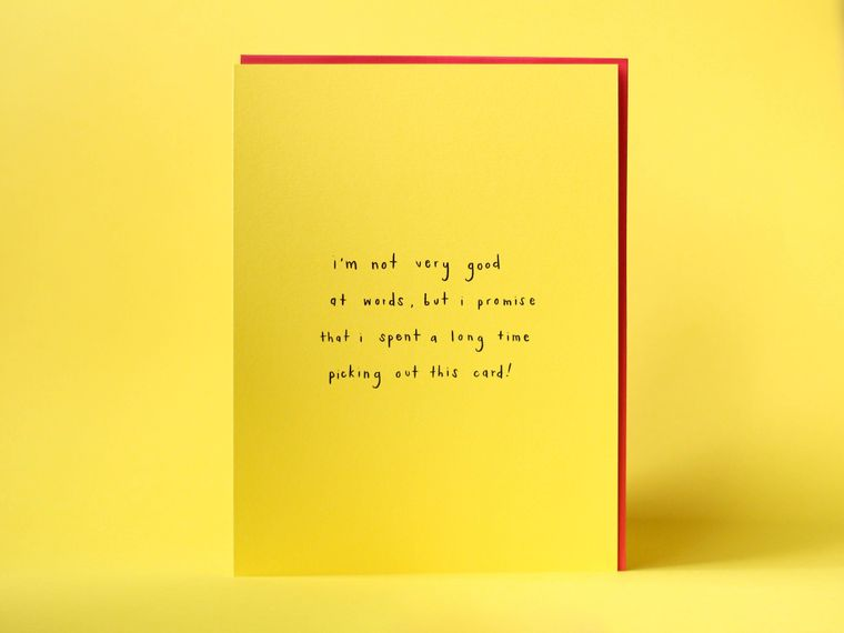 Not Good With Words Large Greeting Card
