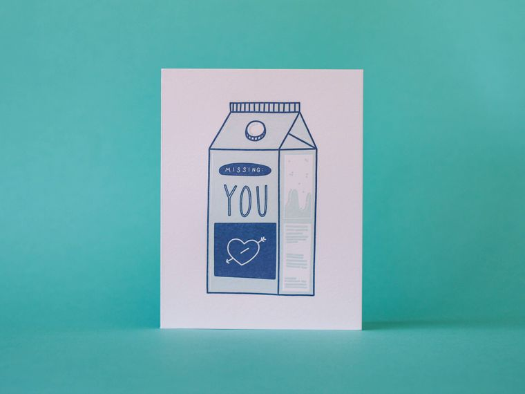 Missing: You Letterpress Greeting Card
