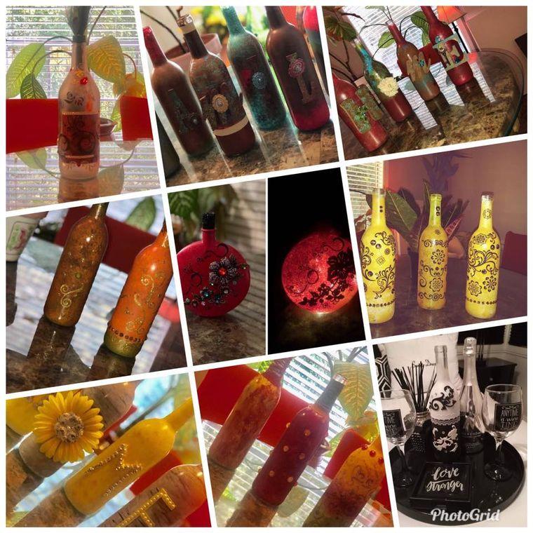 Photo Grid of Bottles