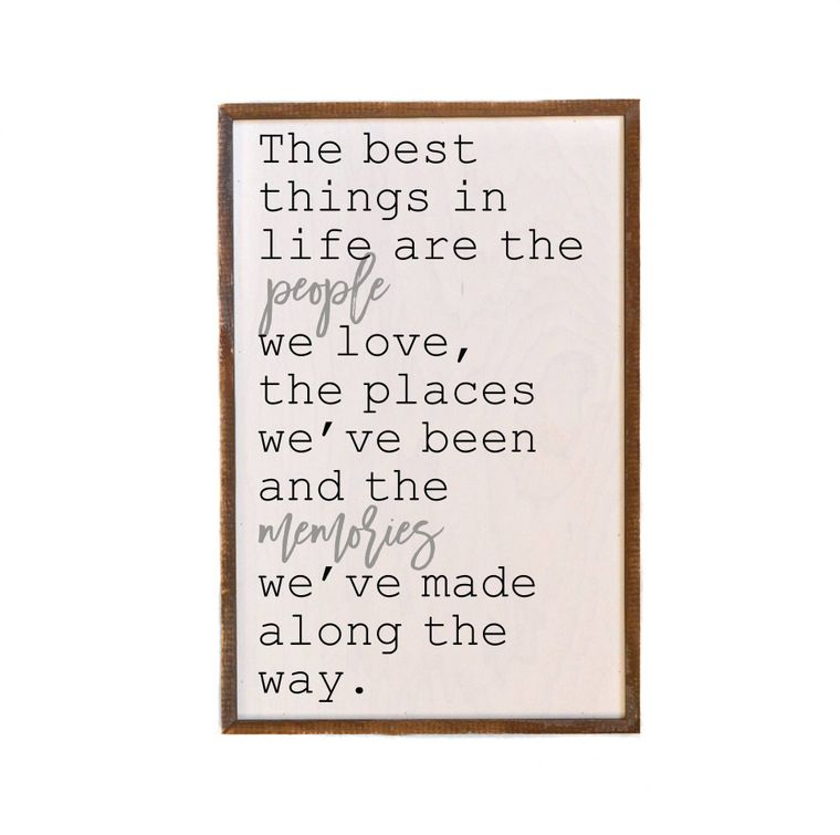 Home Decor - 12x18 The Best Things In Life Wooden Wall Hanging