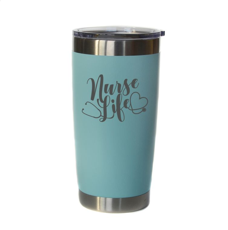 """Coffee - 20 oz Engraved Coffee/Cocktail Tumbler """"Nurse Life"""""""