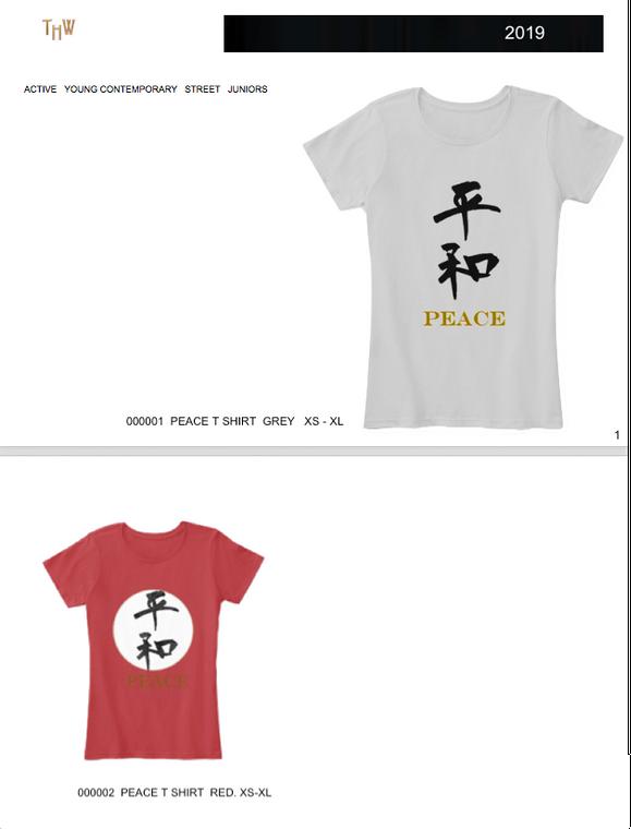 """PEACE"" T Shirt for Women  ©2019 THW"