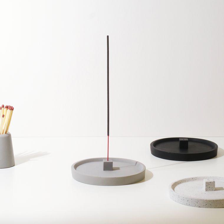 Concrete Incense Cube Holder - Incense Stick Burner