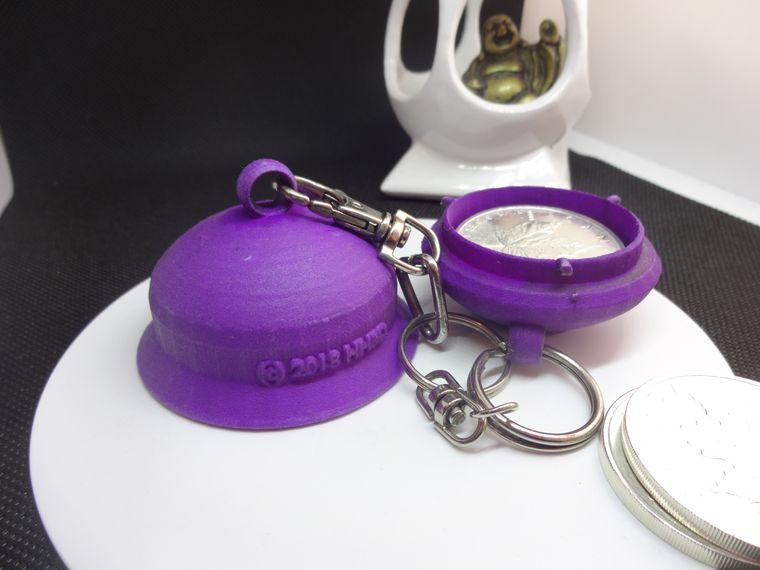 Secure-N-Easy Keychain Storage Capsule